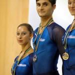 la cerimonia di premiazione degli europei 2010 - Medaglia d'argento per Ale e Arianna