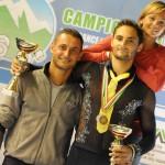 Alessandro con gli allenatori Ivan e Gaia