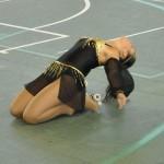 Angelica nel momento finale del suo long program 2010