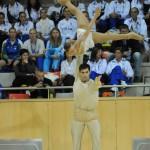 Arianna Di Damiano - Alessandro Fratalocchi durante l'esecuzione di un sollevamento ai Campionati Europei 2010