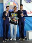 De Renzis Edoardo (3° class. ai Campionati Italiani F.I.H.P. 2010 negli Esercizi Obbligatori ), con Ivan e Alessandro Fratalocchi (2° class.)