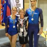 Europei 2012 - Ale e Arianna Vice Campioni Europei con Gaia Grandi