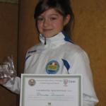 Florinda premiata a Pollenza per la conquista dei due titoli regionali F.I.H.P. nel 2010