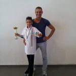 Kevin Bovara con l'allenatore Ivan Bovara