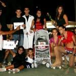 """Gruppo """"Le comiche"""" con gli ex-atleti a Carassai nel 2009"""