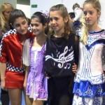 Margherita, Alessia, Ilaria e Dana durante le premiazioni...