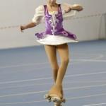 La foto più bella è quella di Alessia ripresa durante la fase aerea di un salto.