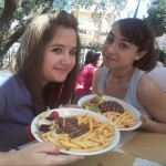Annalisa e Ilaria e il loro pasto da atlete