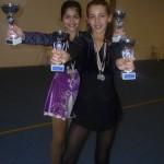 Alessia e Ilaria rispettivamente 1° e 2° negli esercizi obbligatori della cat. Esordienti Regionali