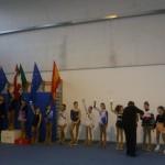 la cerimonia di premiazione degli esercizi liberi della cat. Esordienti Reg.li