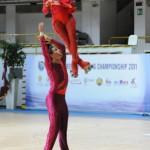 Alessandro e Arianna durante lo short program nel triplo lutz twist