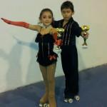 Alba e Kevin ai Campionati Provinciali Uisp del 26 febbraio 2012