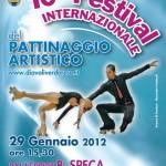 """la Cartolina del """"10° Festival Internaz.le del Pattinaggio Artistico"""" del 29 gennaio 2012"""