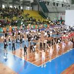 gli atleti partecipanti al festival durante la cerimonia di apertura
