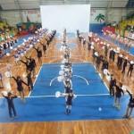 la foto di gruppo degli atleti presenti al 10° Festival Internaz.le del 29 gennaio 2012