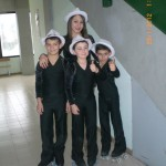 Alex, Vincenzo, Kevin e Francesca della Diavoli Verde Rosa