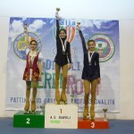 Il podio degli esercizi liberi dei Campionati Prov.li FIHP 2012 con Irene 2° e Ilaria 3°