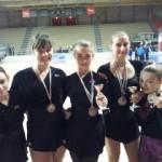 Le atlete della DVR impegnate nella prima fase dei Campionati Regionali a Osimo
