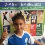 """Kevin Bovara 1° class. cat. Giovanissimi """"A"""" ai Campionati Italiani Aics 2012"""
