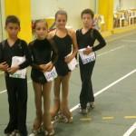 Kevin, Alba, Silvia e Vincenzo ai Campionati Italiani Aics 2012.