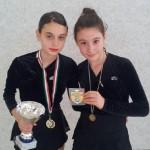Irene (Campionessa Regionale di Obbligatori) insieme a Giulia Ciotti (4° class.)