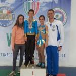 Alex e Ilaria con gli allenatori Laura e Ivan