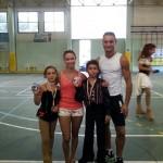 I tecnici Ivan Bovara e Laura Marzocchini con la coppia Campione Nazionale formata da Alba Marconi e Kevin Bovara