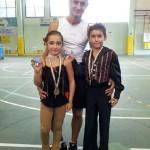 Kevin e Alba, Campioni Nazionali, con l'allenatore Ivan Bovara