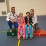 Alba e Kevin con gli allenatori Ivan e Laura