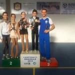 Laura Marzocchini e Ivan Bovara con gli atleti della categoria Piccoli Azzurri