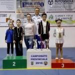 I tecnici Ivan Bovara e Laura Marzocchini con alcuni dei Campioni Provinciali