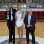 Gianni Ponzetti con la coppia Campione Regionale cat. Seniores