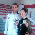 Ilaria Spinozzi con il tecnico Ivan Bovara