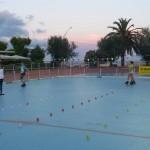 Allenamento post gara per gli atleti azzurri del Freestyle