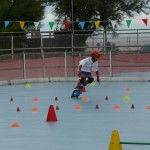 Kevin Bovara durante la gara di Rollercross