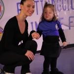 la mascotte Aurora con Laura Marzocchini