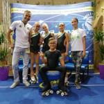 ivan-bovara-e-laura-marzocchini-con-i-4-atleti-della-diavoli-verde-rosa